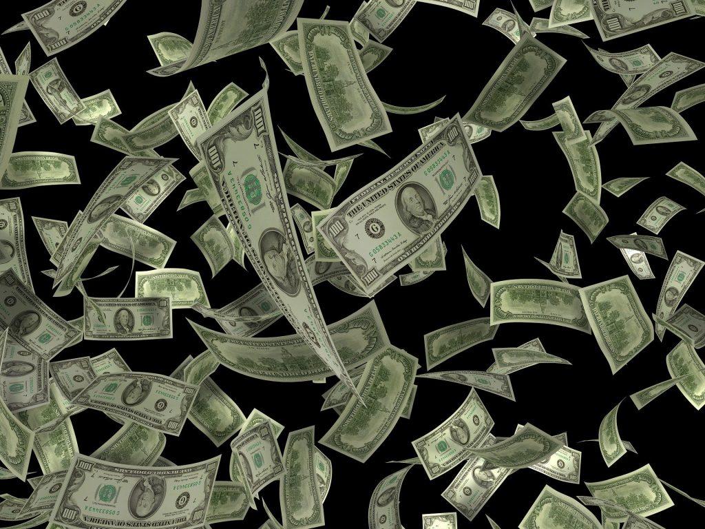 Dollars raining down
