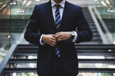 A picture of a man in formals representing HR